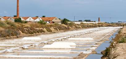 Saline marshes in Tavira