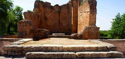 Roman temple ruins of