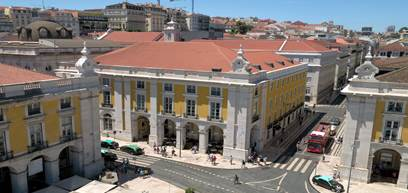 Pousada de Lisboa, Praça do Comércio