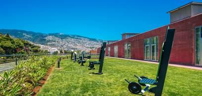 Ginásio de treinos outdoor